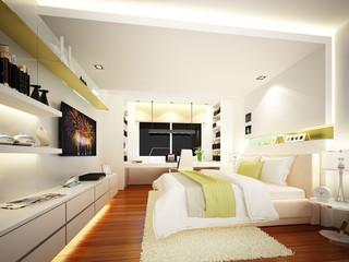 3d render of interior bedroom