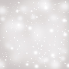 Grey background with falling snow