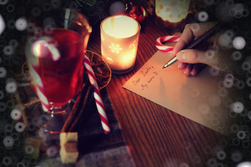 christmas hand writing story