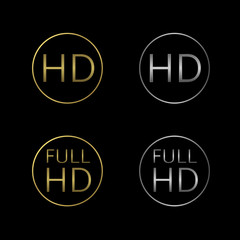 HD and Full HD icons