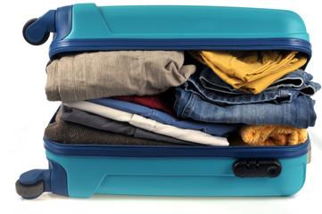 La valise trop chargée