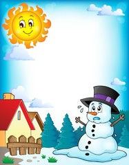 Melting snowman theme image 3