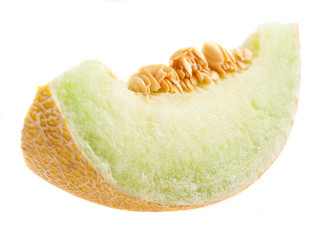 sliced melon isolated on a white background