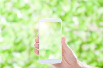 スマートフォン,緑の背景