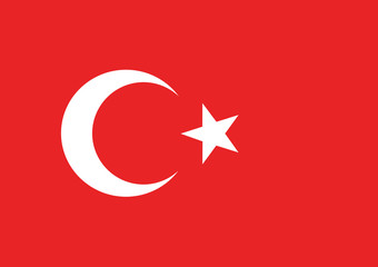 Vector of Turkish flag.