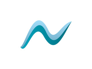 N Letter Wave Logo