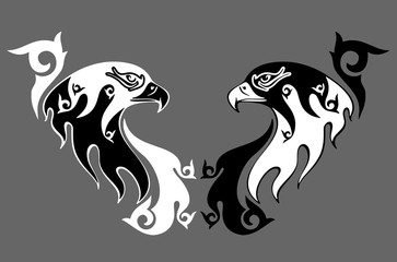 eagle in the form of the stylized tattoo