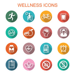 wellness long shadow icons
