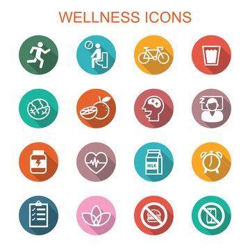 wellness long shadow icons