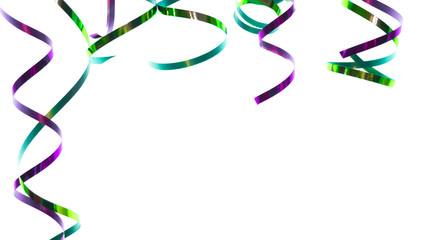 grün-lila Papierschlangen glänzend