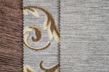 Close Up Detail of Cream Color Fabric Texture
