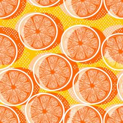 Cut orange seamless pattern