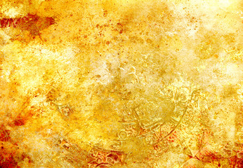 abstract color Backgrounds, painting collage with spots, rust structure and ornaments.