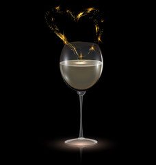 heart and white wine