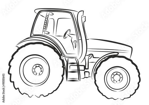 Line Drawing Tractor : Quot tractor sketch obrazów stockowych i plików wektorowych