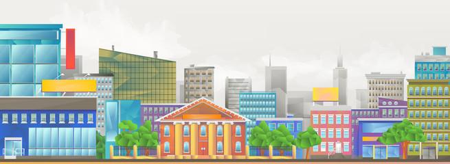 City, vector illustration
