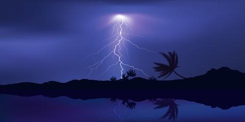 Orage Iles Tropique