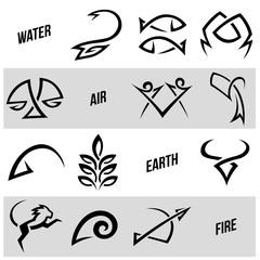 Simplistic Zodiac Star Signs