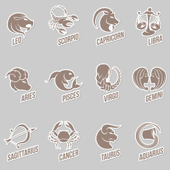 Zodiac Star Signs Sticker Designs