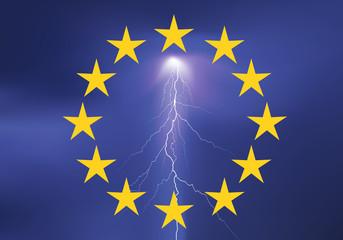 Drapeau Europe_Orage