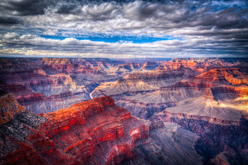 Photo Blinds Canyon famous view of Grand Canyon , Arizona