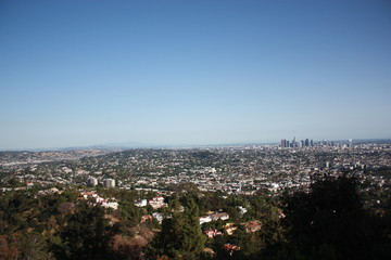 Downtown Los Angeles view from Griffith Park, USA