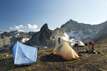 Alpine camping in British Columbia