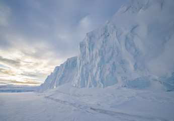 Barne Glacier on Ross Island, McMurdo Sound, Antarctica