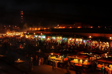Marrakech market,  Marocoo Night Market