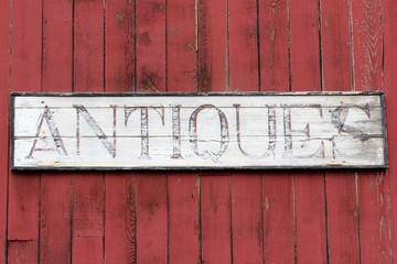 Antiques Sign