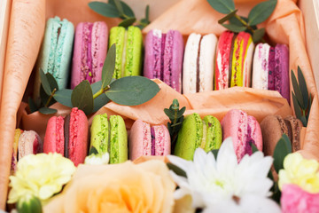 macaroons and bouquet