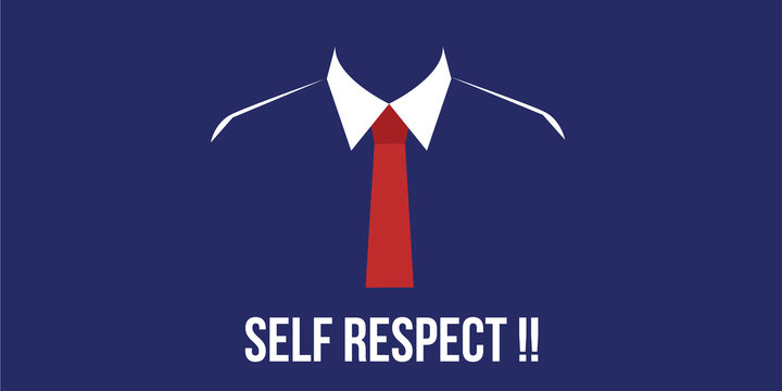 self respect confidence person with suit red tie