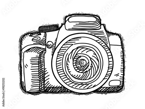 U0026quot;Camera Doodle A Hand Drawn Vector Doodle Illustration Of A Camera.u0026quot; Stock Image And Royalty ...