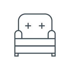 Furniture, seat icon