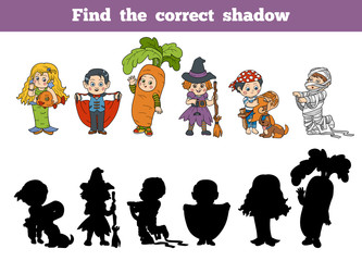 Find the correct shadow: Halloween Characters