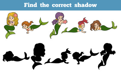 Find the correct shadow game (set of mermaids)