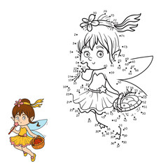 Numbers game (little fairy with a basket of fruit)
