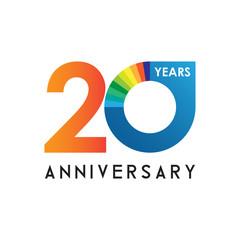 20 anniversary chart logo