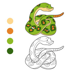 Coloring book (snake)