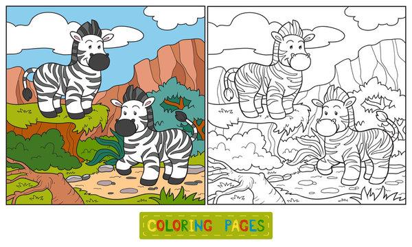 Coloring book (zebra)