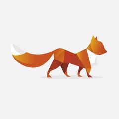 Polygonal red fox