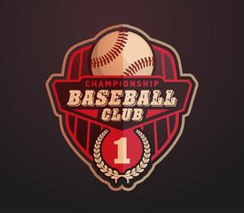 Baseball logo template for sports team