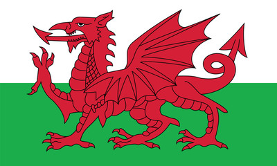 Vector of Welsh flag.