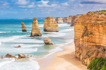 Photo sur cadre textile Australie Twelve Apostles rocks on Great Ocean Road, Australia