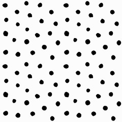 Hand drawn small polka dots