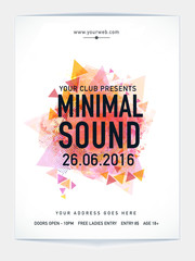 Template, Banner or Flyer for Musical Party.
