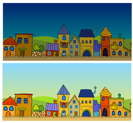 Cartoon town.