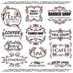 Vector vintage badges for shops