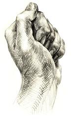 Rebel handpainted fist gesture
