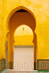 old door in morocco africa ancien and wall ornate brown